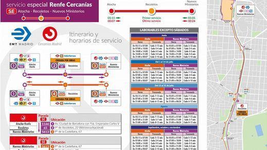 Cercanías Madrid establece un Plan Alternativo de Transporte desde el 2 de junio por las obras de Adif en Recoletos