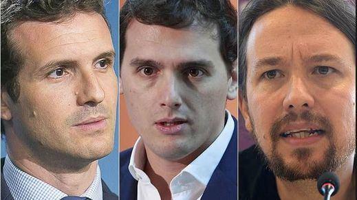PP, Cs y Podemos y el riesgo de crisis a costa de los pactos poselectorales