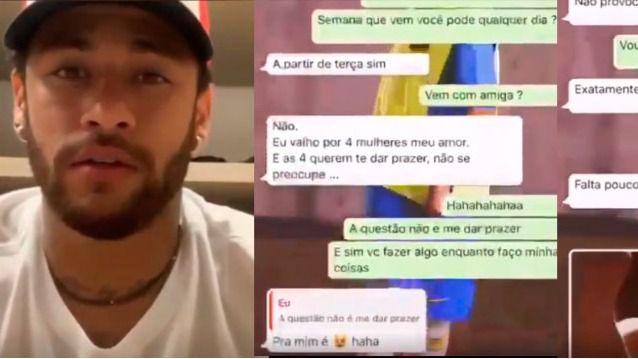 Resultado de imagen para neymar denunciado chat