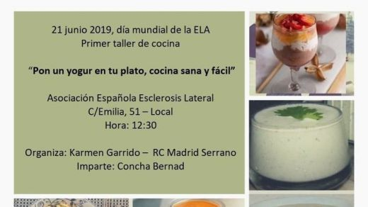 Primer taller de cocina a favor del ELA 'Pon un yogur en tu plato'