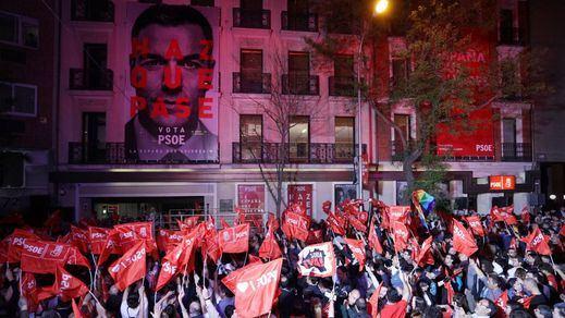 El PSOE celebra que estará al frente de 22 capitales de provincia y numerosas grandes localidades