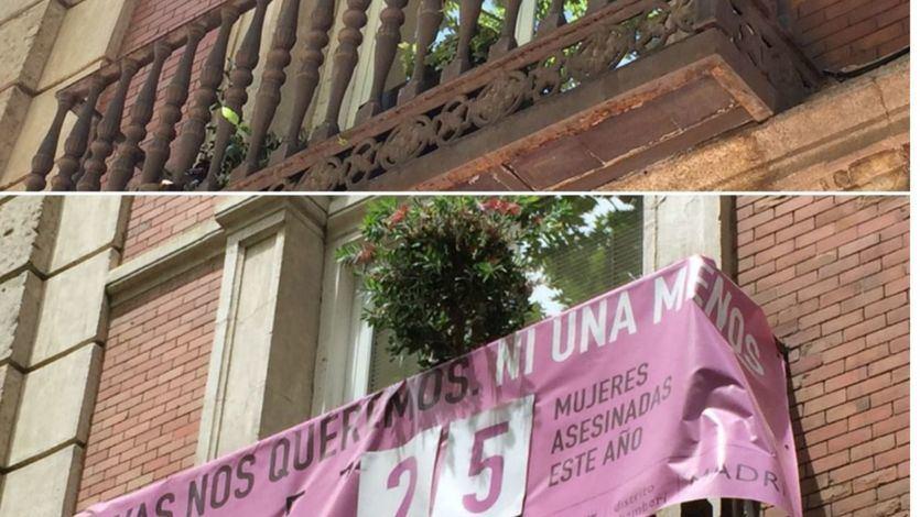 El PP retira pancartas contra la violencia machista de edificios municipales de Madrid