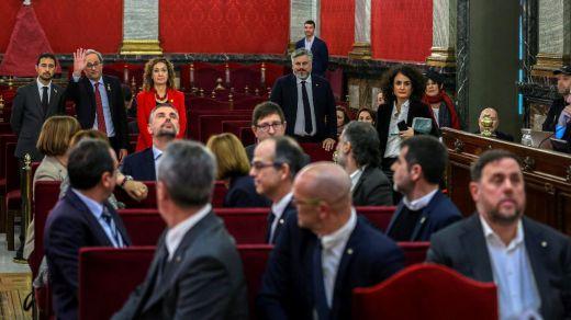 El Supremo se niega a conceder la libertad provisional de los acusados del juicio del 'procés'
