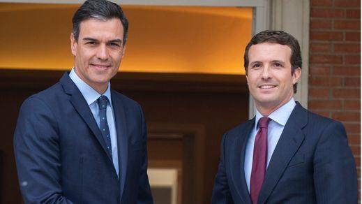 Reunión secreta entre Sánchez y Casado en La Moncloa
