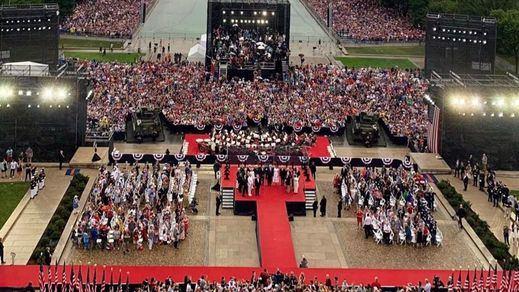 Polémico desfile de 4 de julio de Trump: gestos faraónicos para manifestar el poderío militar de EEUU