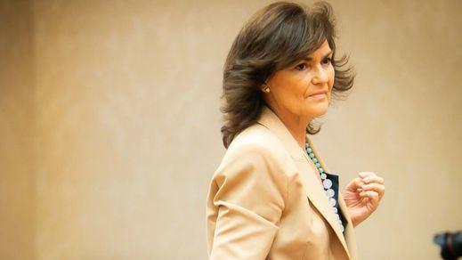 El cinturón de Carmen Calvo: la polémica está servida