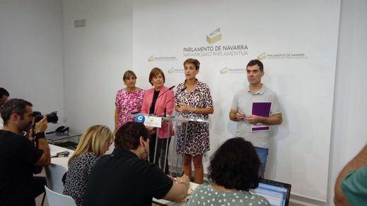 Acuerdo entre PSOE, Geroa Bai, Podemos e IU para gobernar Navarra
