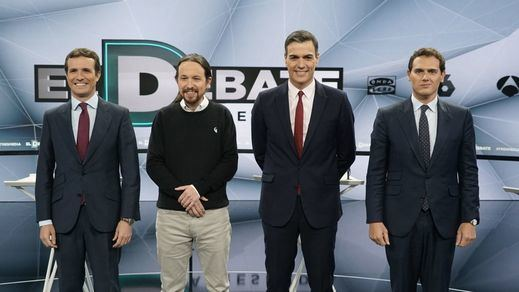 Lo que dicen las encuestas: más bipartidismo y Podemos y Vox son los que pagan los platos rotos