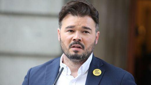 Rufián interviene en la tensión PSOE-Podemos dando a entender que quiere la investidura de Sánchez