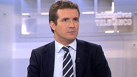 Casado descarta el farol de Sánchez sobre una repetición electoral y cree que cederá con Podemos