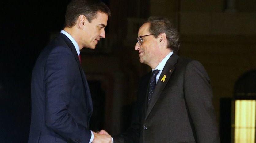 Torra confirma el 'no' de JxCat a la investidura de Sánchez si no propone un referéndum para Cataluña