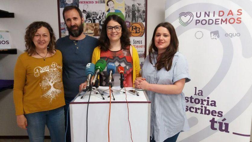 Raquel Romero y otros dirigentes de Podemos La Rioja