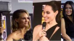 Natalie Portman, Angelina Jolie y Salma Hayek
