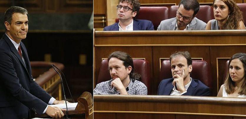 Sánchez realiza un discurso de investidura aún sin el apoyo de Podemos, que guardó silencio y no aplaudió sus propuestas