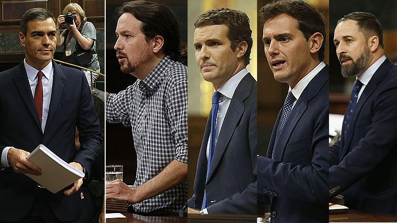 Los mejores y peores discursos de los líderes políticos en el debate de investidura