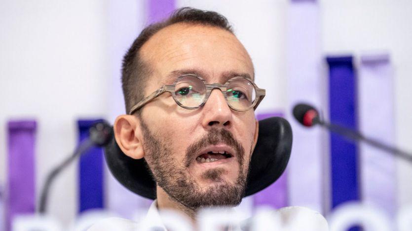 Echenique confirma que Podemos no votará hoy a favor de Sánchez y se debaten entre la abstención y el 'no'