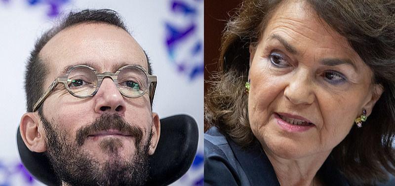 Finaliza la cumbre entre Calvo y Echenique sin 'apenas avances', según Podemos, y un ultimátum, según el PSOE