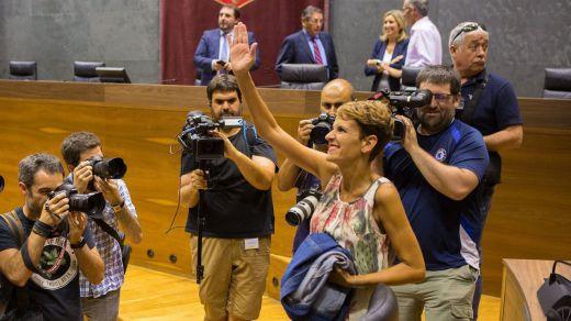 María Chivite, elegida presidenta de Navarra con algunas abstenciones (5 de 7) de Bildu