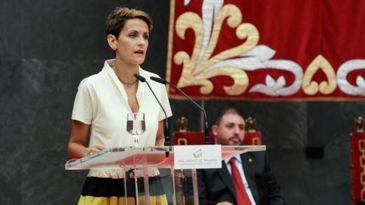 Chivite apela al diálogo tras ser investida presidenta de Navarra gracias al consenso de cuatro partidos