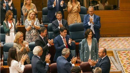 Las reacciones de la oposición al discurso de investidura de Ayuso
