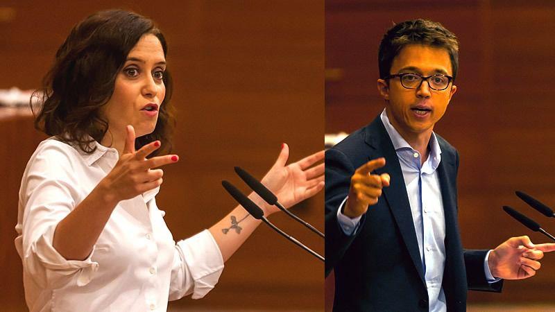 Ayuso y Errejón llevan su rivalidad al plano personal: 'Eres el personaje más traidor de la política española... le debes todo a Pablo Iglesias'