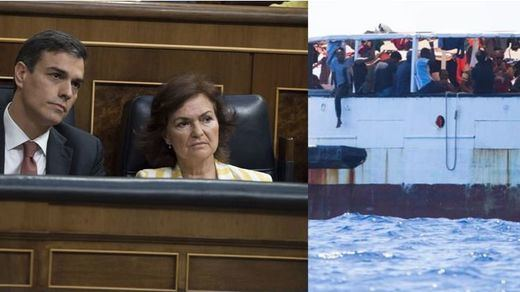 Un buque de la Armada española recogerá a los migrantes del 'Open Arms'