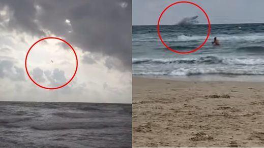 Fallece el piloto del avión militar que cayó en La Manga del Mar Menor