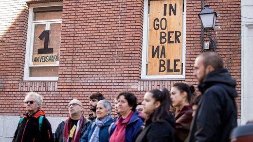 El centro social madrileño La Ingobernable resiste al primer intento de desalojo