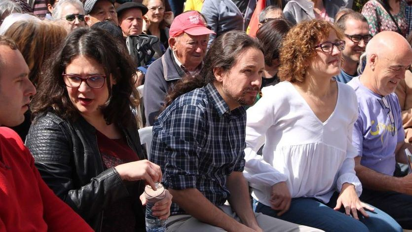 Raquel Romero y Pablo Iglesias