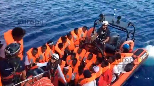 Desembarco de migrantes en Italia
