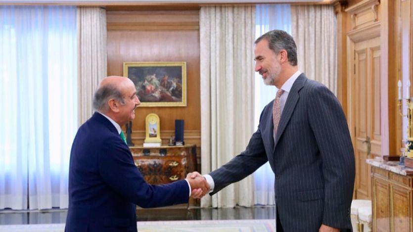 José María Mazón con el rey Felipe VI