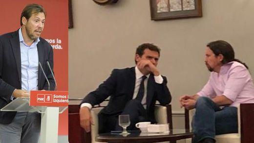 El 'paparazzi' alcalde de Valladolid, Óscar Puente, roba una foto a Rivera e Iglesias