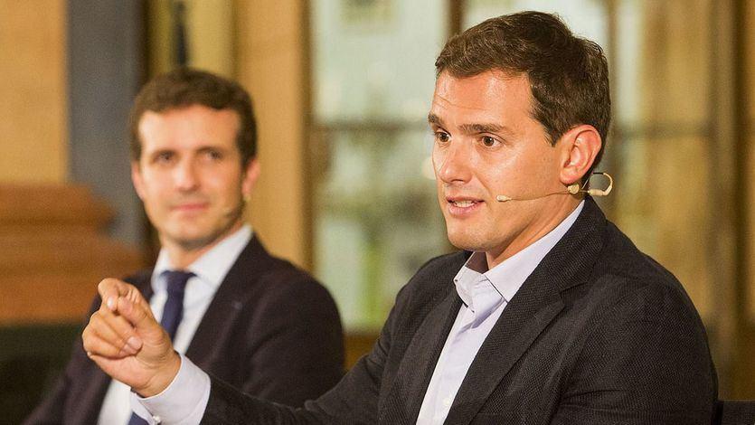 Rivera insta a Casado a gobernar juntos si el 10-N suman 'un escaño más' que la izquierda