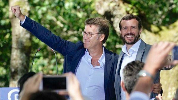 Feijóo y Alonso cierran filas en torno a Casado ante la cita electoral del 10-N