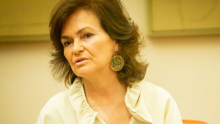 Carmen Calvo, vicepresidenta del Gobierno y ministra de Presidencia, Relaciones con las Cortes e Igualdad