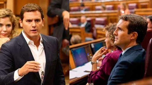 PP y Ciudadanos exigen al PSOE romper los pactos de gobierno con los independentistas en Cataluña