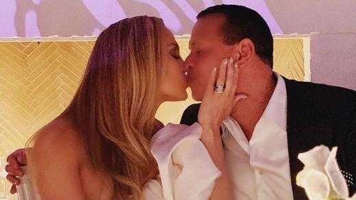 Jennifer Lopez y Alex Rodriguez comparten su fiesta de compromiso