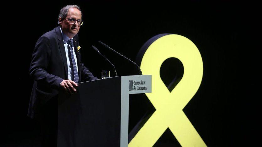 La orden de la Junta Electoral a Torra para retirar los lazos amarillos y esteladas de los edificios públicos
