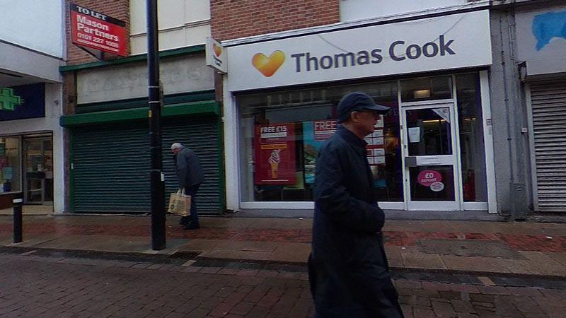 Oficina de Thomas Cook en Reino Unido