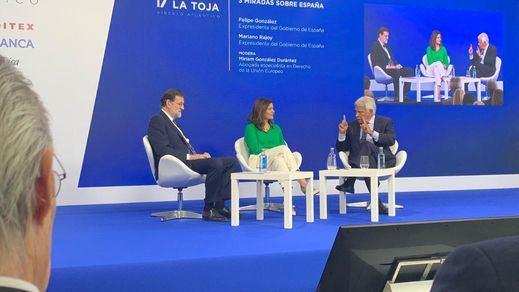 Felipe González, Mariano Rajoy y una petición compartida de cara al 10-N