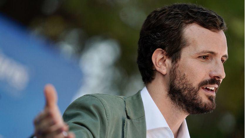 Casado: 'La gran coalición incluiría a PSOE, PP y Cs; Vox y Podemos quedarían fuera'