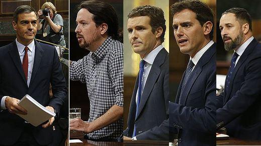Sondeos 10-N: el PSOE roza el 30% de apoyos, mientras el PP se recupera y Cs y Podemos empatan