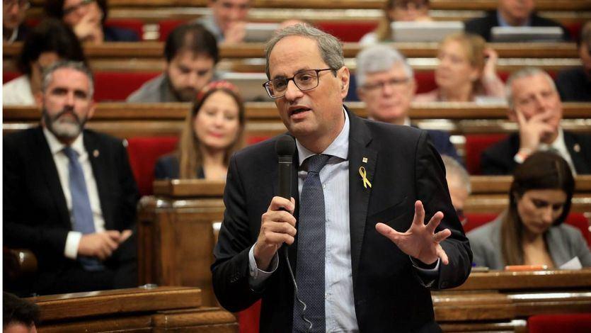 Torra 'delega' en el Parlament la respuesta a la sentencia del procés