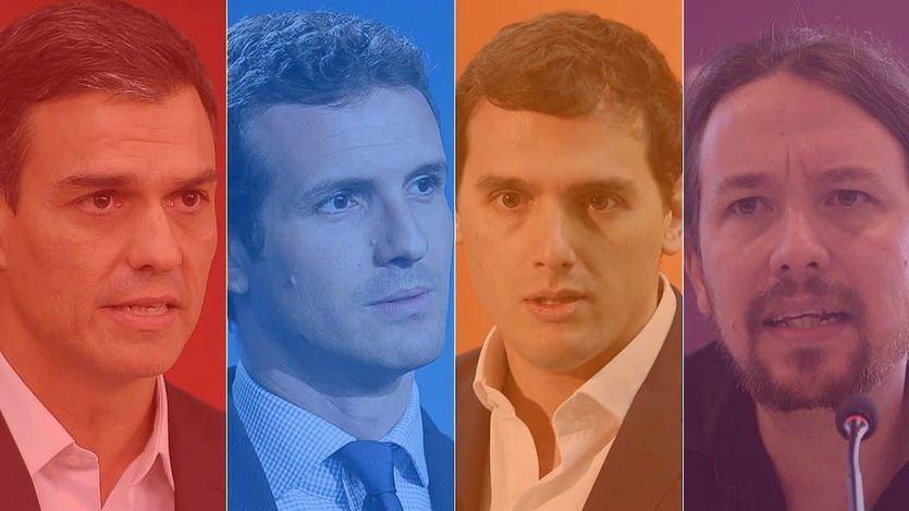 sanchez casado rivera iglesias candidatos elecciones colores