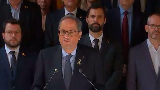 Torra califica la sentencia del procés de antidemocrática y pide una reunión con el rey y Sánchez