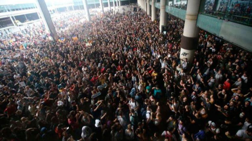 Concentraciones en el aeropuerto de El Prat