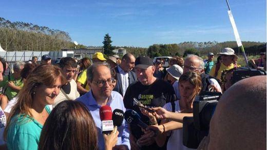 Torra se une a las marchas independentistas y obvia los altercados violentos