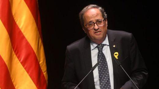 Torra cede y emite un escueto mensaje de condena de la violencia en las calles de Cataluña