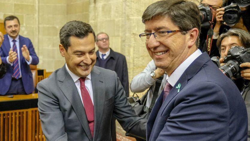 PP, Ciudadanos y Vox vuelven a pactar las cuentas de Andalucía con la vista puesta en el sector público