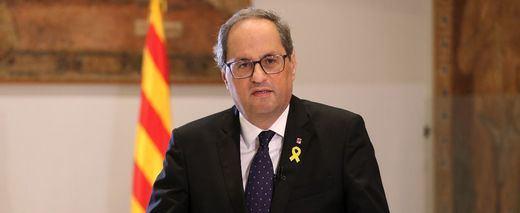 Torra exige una reunión a Sánchez tras los graves disturbios en Cataluña